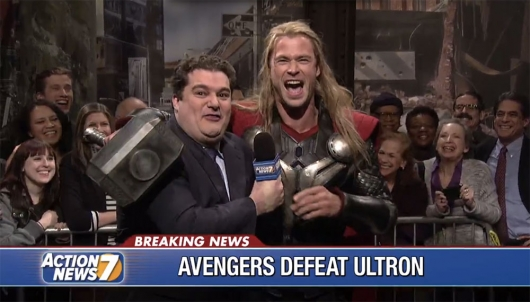 SNL: The Avengers Celebrate Victory Over Ultron