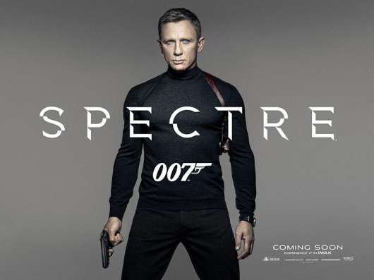 Daniel Craig as James Bond in New Spectre Poster