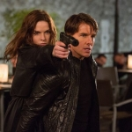 Tom Cruise and Rebecca Ferguson star in Mission: Impossible: Rogue Nation