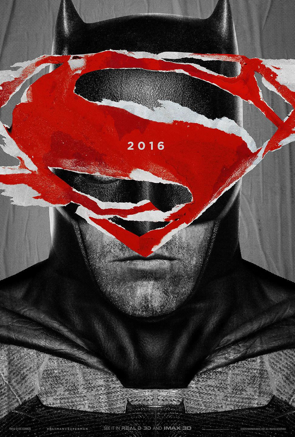 Batman V Superman Character Poster With Logo