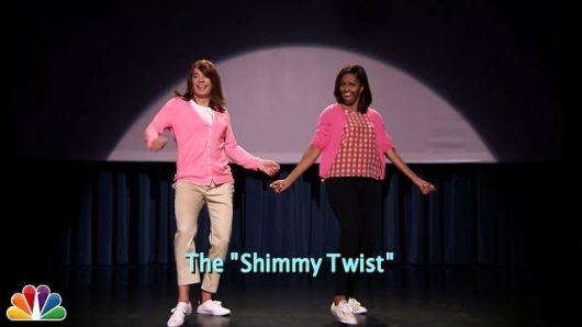 Jimmy Fallon and Michelle Obama Evolution of Mom Dancing Part 2