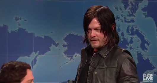 SNL The Walking Dead Norman Reedus On Weekend Update