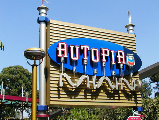 Disneyland Autopia sign (Photo by Brett Nachman)