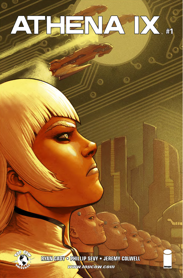 Athena IX #1 cover by Atilio Rojo