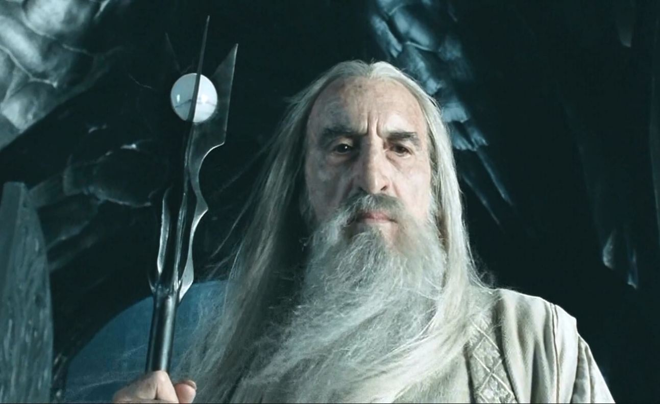 Christopher Lee as Saruman