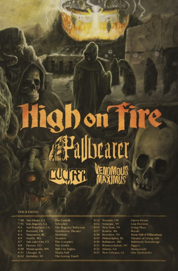 High On Fire 2015 Tour Poster