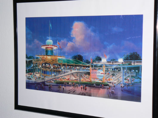 Autopia concept art by Eric Heschong, sold by Disney Art on Demand, is one of my favorite Disneyland Resort possessions