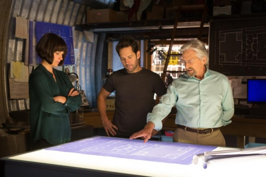 Michael Douglas, Paul Rudd, and Evangeline Lilly star in Marvel's Ant-Man