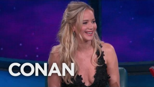 Conan Comic Con Jennifer Lawrence