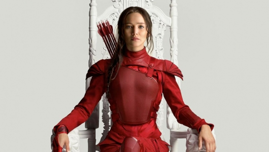 The Hunger Games: Mockingjay Part 2 Katniss in red banner