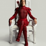 The Hunger Games: Mockingjay Part 2 Katniss in red Poster