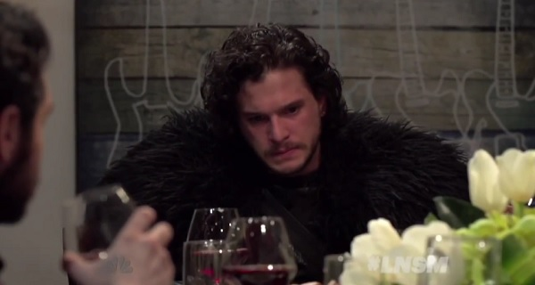 Kit Harington as Jon Snow on Late Night with Seth Meyers in Game of Thrones Mash-Up