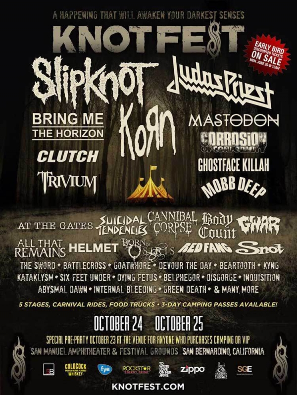 Knotfest 2015 Poster