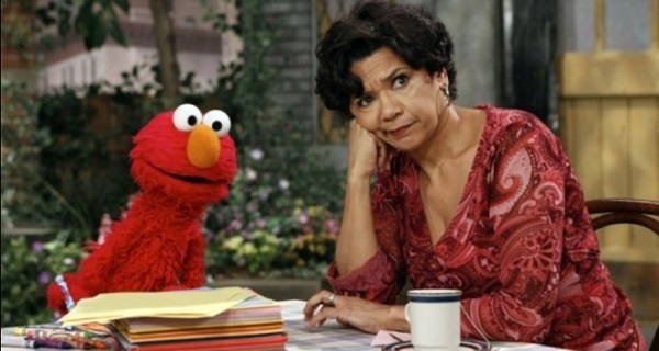 Sonia Manzano and Elmo on Sesame Street