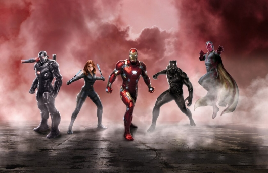 Captain America: Civil War Iron Man team