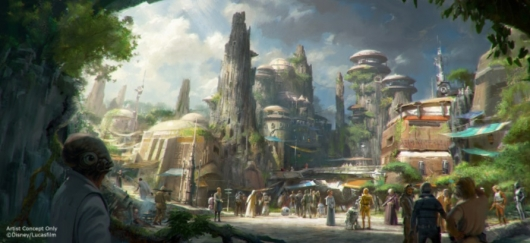D23 Expo 2015: Star Wars Themed Land Concept Art #2