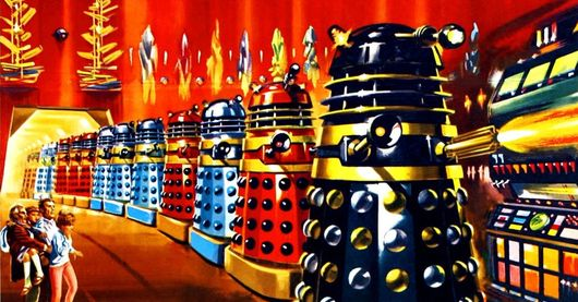 Dr. Who & The Daleks title