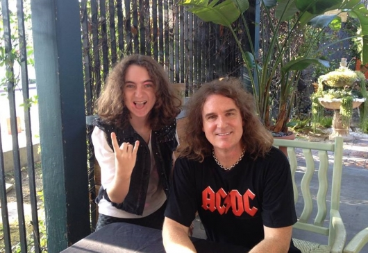 Jesse Bergen with Dave Ellefson from Megadeth
