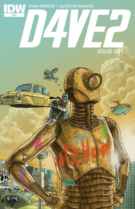D4VE2 #1 cover by by Valentin Ramon IDW