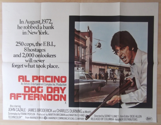 Dog Day Afternoon Film Poster 1975