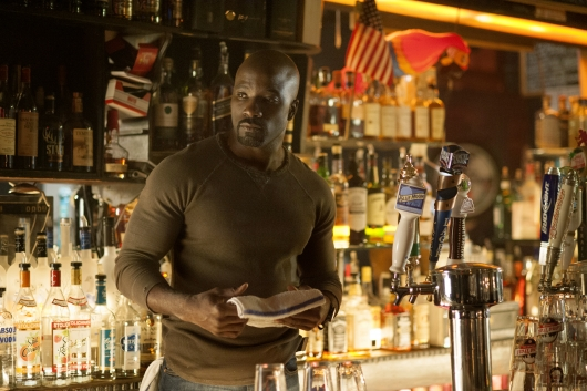 Mike Colter as Luke Cage in Jessica Jones