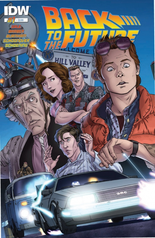 Back To The Future #1 cover by Dan Schoening