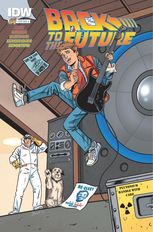 Back To The Future #1 cover by Jordie Bellaire