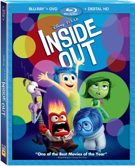 Disney Inside Out Blu-ray DVD combo pack cover art