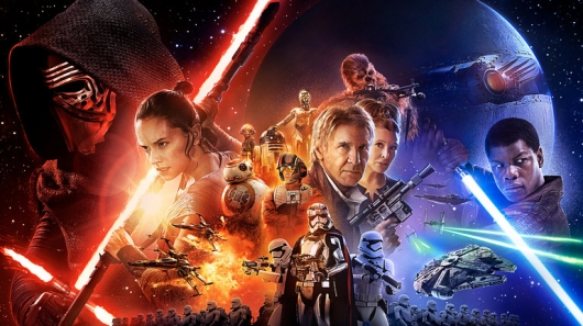 Star Wars The Force Awakens Poster wide version