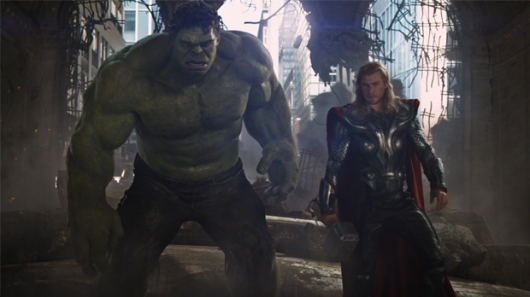 Hulk and Thor in The Avengers