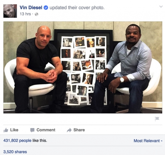 Vin Diesel and F Gary Gray Furious 8