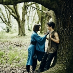 Ally Ioannides as Tilda and Aramis Knight as M.K. - Into the Badlands
