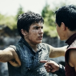 Aramis Knight as M.K. and Daniel Wu as Sunny - Into the Badlands