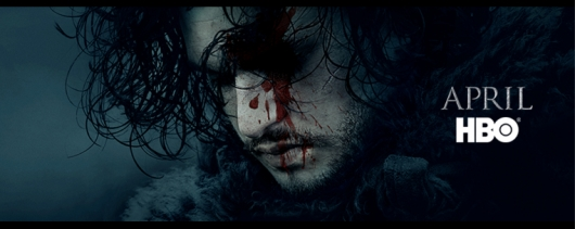Game Of Thrones Season 6 promo art banner Jon Snow
