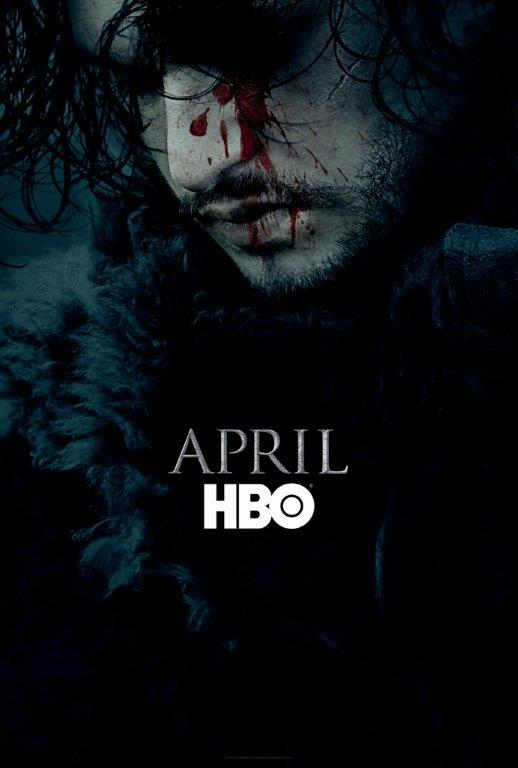 Game Of Thrones Season 6 promo art Jon Snow