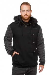 Jon Snow Fur Hoodie Think Geek