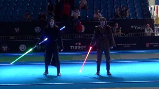 Here S What Fencers Having A Star Wars Lightsaber Duel