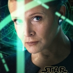 Star Wars: The Force Awakens Leia character poster