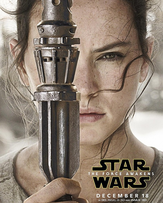 Star Wars: The Force Awakens Rey character poster