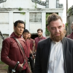Marton Csokas as Quinn and Daniel Wu as Sunny - Into the Badlands