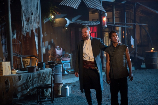 Marton Csokas as Quinn and Aramis Knight as M.K. - Into the Badlands