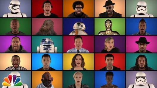The Force Awakens Cast Star Wars A Cappella Medley Jimmy Fallon The Roots