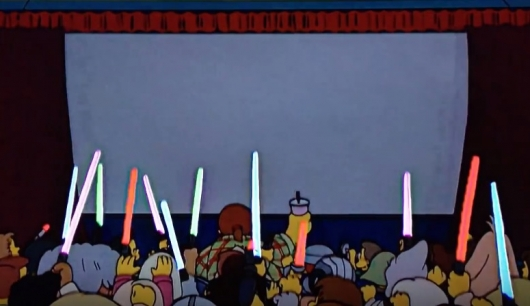 The Simpsons Star Wars Lightsabers