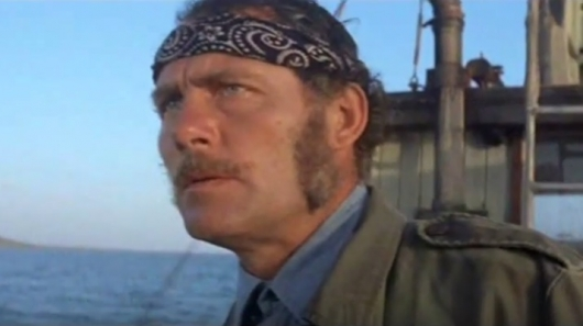 Quint (Robert Shaw) In JAWS