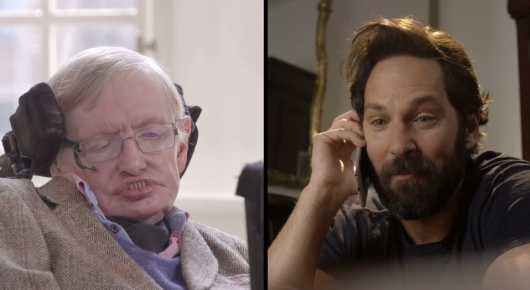 Stephen Hawking and Paul Rudd