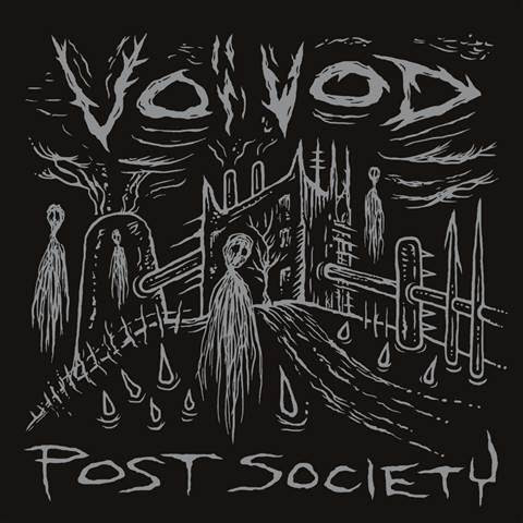 "Voivod Post Society EP cover art by Michel ""Away"" Langevin"