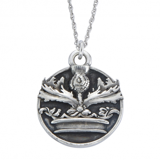 Crowned Thistle Necklace Front