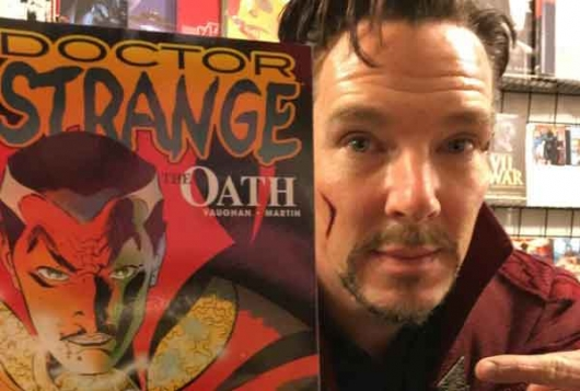 Benedict Cumberbatch Doctor Strange NYC Comic Book Shop