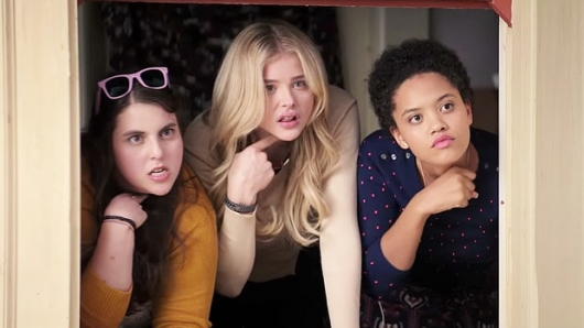 Neighbors 2 starring Beanie Feldstein, Chloe Grace Moretz, and KIersey Clemons
