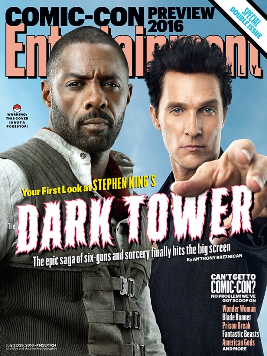 Idris Elba and Matthew McConaughey The Dark Tower EW cover